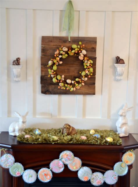 bunny and egg easter mantel home stories a to z