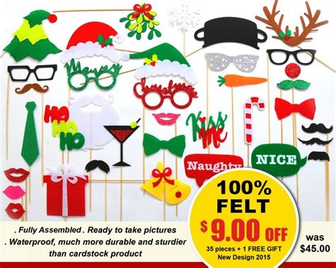 design photo booth props new design 2015 35 pcs christmas photo booth props