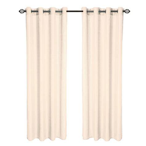 curtain panels 108 length lavish home cream olivia jacquard grommet curtain panel