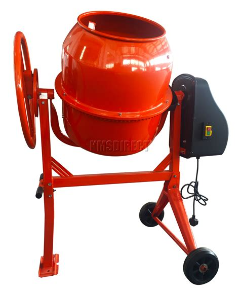 Mixer Lifier 120 Watt foxhunter 550w 120l drum portable electric concrete cement