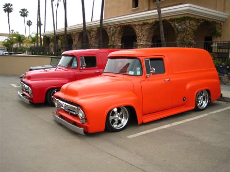 1956 ford panel truck ford fr100 panel truck with cammer