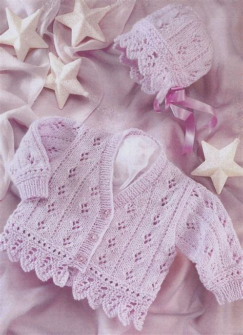 vintage knitting pattern baby bonnet vintage knitting pattern pdf baby cardigan and bonnet