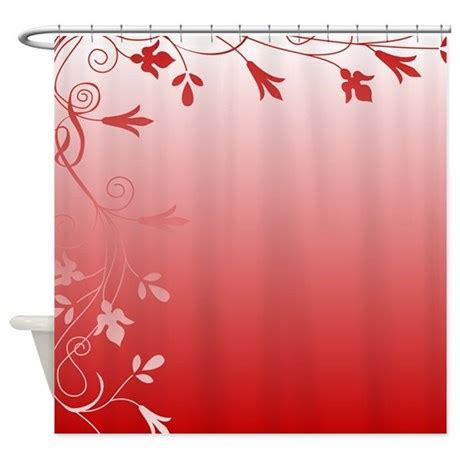 red and white shower curtain red and white floral shower curtain by stolenmomentsph