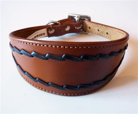 cheap collars oval stitch leather saluki afghan whippet collar 3 sizes wholesale collars