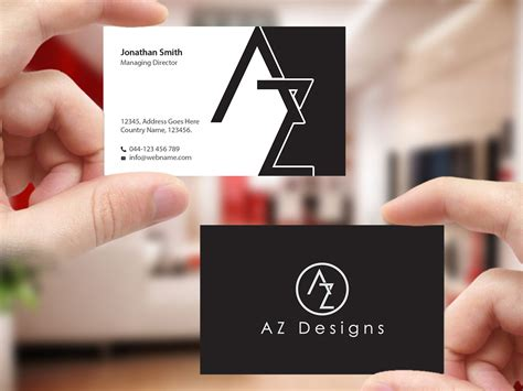 interior design visiting card matter elegant feminine business card design for az designs by