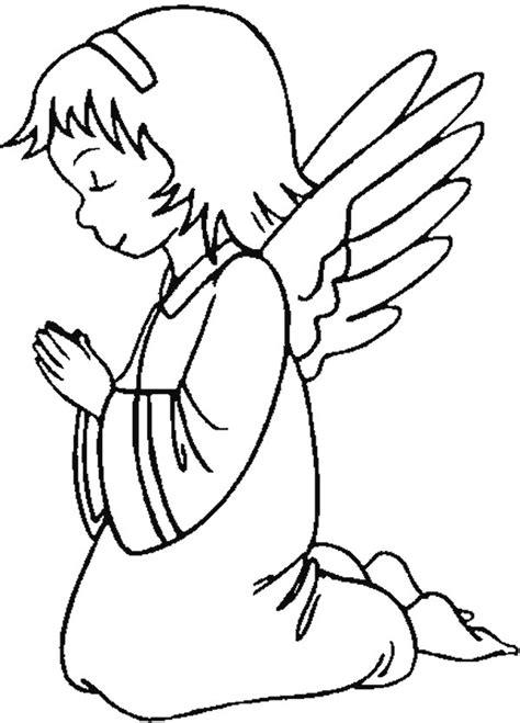 imagenes de ninos rezando para colorear angel rezando para colorear imagui