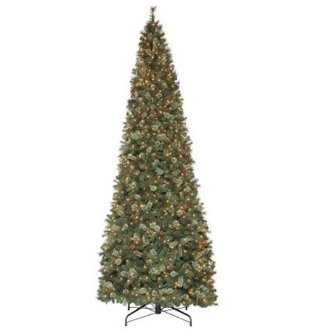 home depot alexandria pine tree martha stewart living 15 ft pine set artificial tree with pinecones