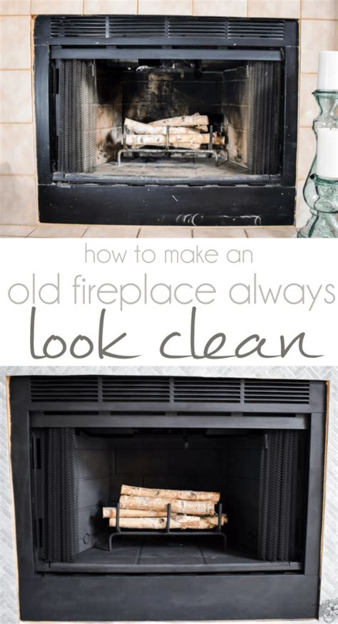 Fireplace Step by A Permanently Clean Fireplace Step 1 Of Our Fireplace Makeover Pocketful Of Posies