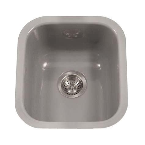 Single Bowl Porcelain Kitchen Sink Houzer Porcela Series Undermount Porcelain Enamel Steel 16 In Single Bowl Kitchen Sink In Slate