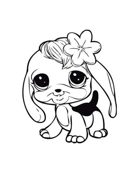 coloring pages baby dogs baby dog learn to walk in littlest pet shop coloring pages