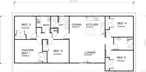 5 bed house plans 5 bedroom transportable homes floor plans
