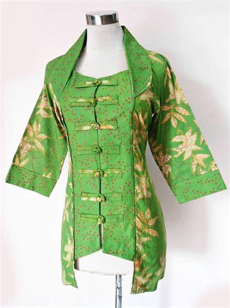 Limited Zakia Blouse Batik Kombinasi Murah blouse batik kerja wanita daniyanti