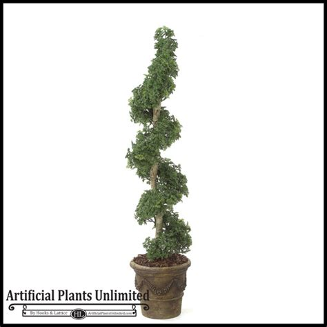 faux topiary outdoor ming aralia artificial spiral topiary 6 outdoor