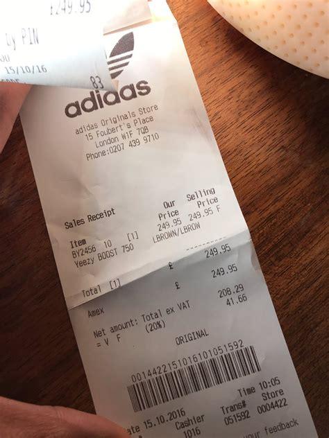 adidas receipt template yeezy receipt template receipt template