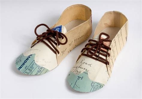 Paper Shoes - i cardboard sculpture on