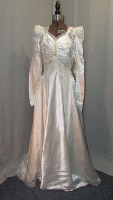 Vintage Satin Wedding Dresses by 1930s Vintage Wedding Dress Satin Vintage Bridal Gown