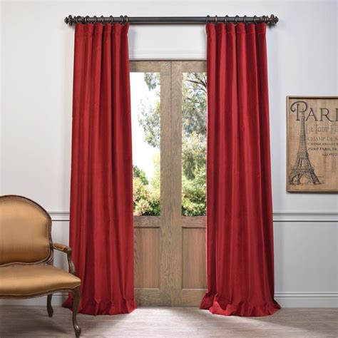 red velvet curtains exclusive fabrics furnishings red vintage cotton velvet