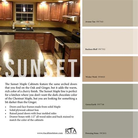 color palette to go with our sunset maple kitchen cabinet
