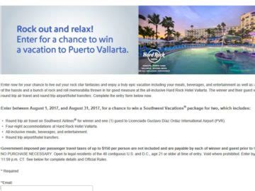 Southwest Sweepstakes - august southwest vacations sweepstakes