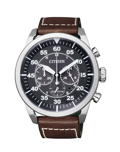 Citizen Ca4210 08e Eco Drive Chronograph Black Black Leather Stra citizen mens stainless steel eco drive chronograph