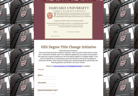 Harvard Extension Mba by Petition To Change Harvard Extension School Diplomas Faces