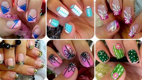 easy nail art compilation nail art compilation compilaci 243 n dse 241 o de u 241 as youtube
