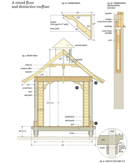 gazebo floor plans free garden gazebo plans outdoor living pinterest