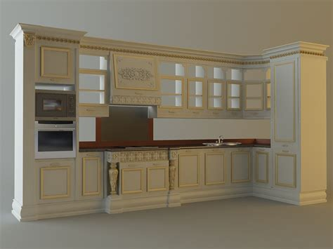 kitchen cabinets appliances 28663 3d model max cgtrader