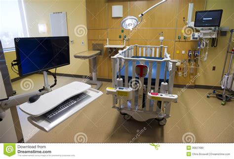 recovery room equipment computer work station in childrens hospital recovery roo stock photo image 30627680