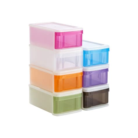 Small Stacking Drawers by Small Tint Stackable Drawer The Container Store