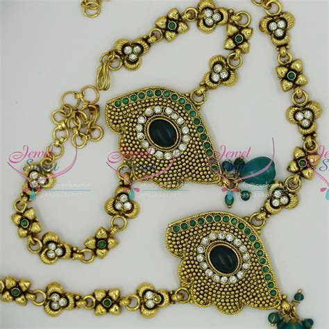 v6196 antique gold plated handmade low price vanki baju