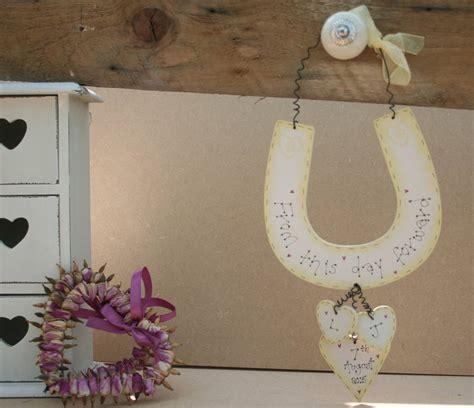 Handmade Wedding Horseshoes - personalised handmade wedding horseshoe by primitive