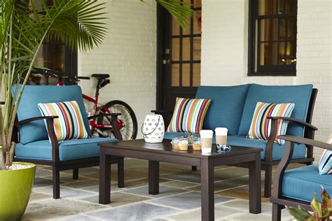 love  bright colors   allen roth patio set