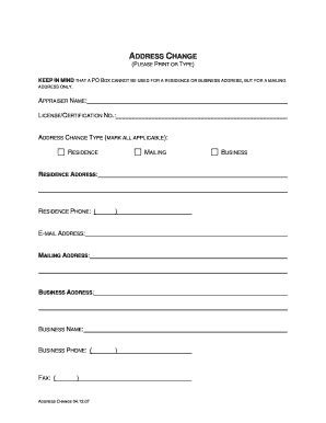 address request form fillable kansas address change request form