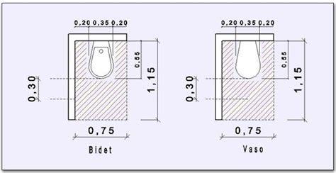 misure bagno minimo misure di ingombro minimo per il bidet ed il vaso bagno