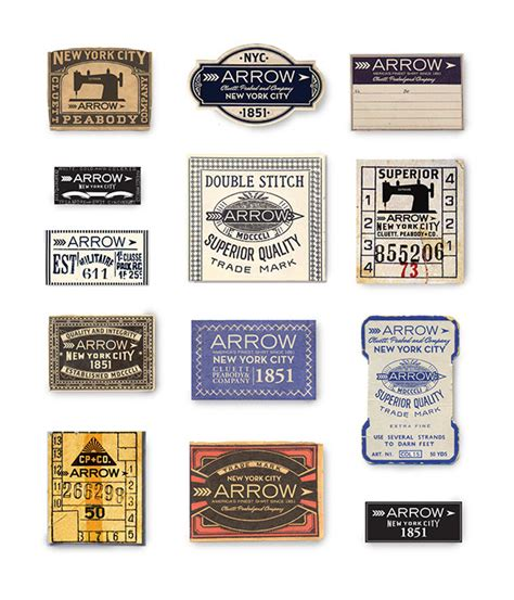 design label manufacturing arrow cluett labels and packaging on behance