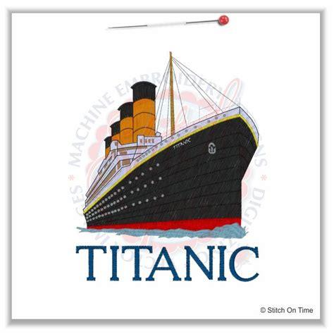 titanic boat design 5 boats titanic 5x7 machine embroidery designs