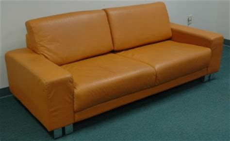 burnt orange leather sofa great burnt orange high grade mid century leather sofa ebay