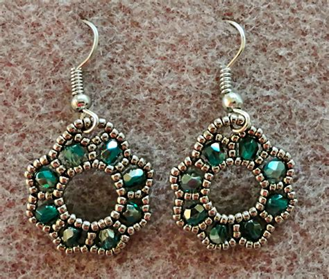 beading patterns for earrings s crafty inspirations free beading tutorial flora