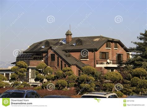 mansion home historic korean house royalty free stock images image