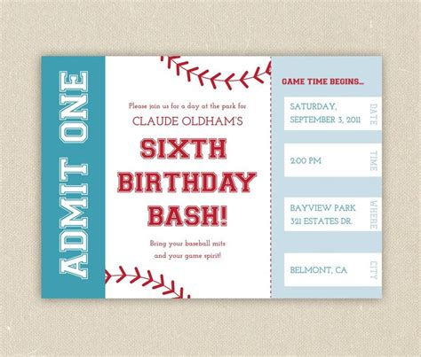 free printable birthday invitations baseball free printable baseball birthday party invitations