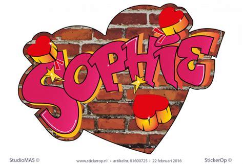 muursticker graffiti sophie