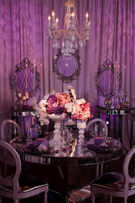 the color purple book reception purple silver ivory wedding reception sweetheart