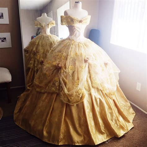 ten beauty and the beast dresses inspired by belle s disney inspired deluxe belle ball gown from beauty and the