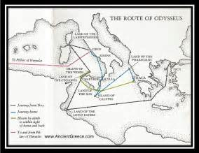 route to home map of odysseus