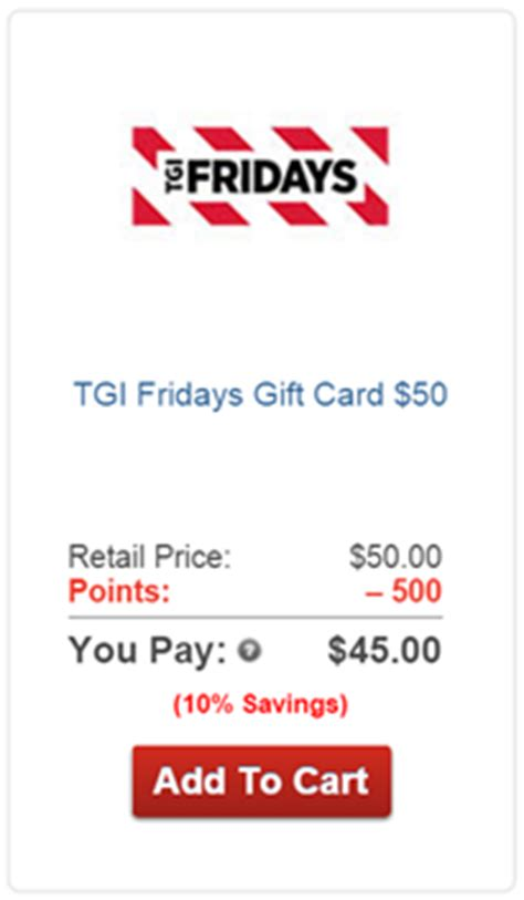 Tgif Gift Card Discount - aarp rewards for good any good frequent miler