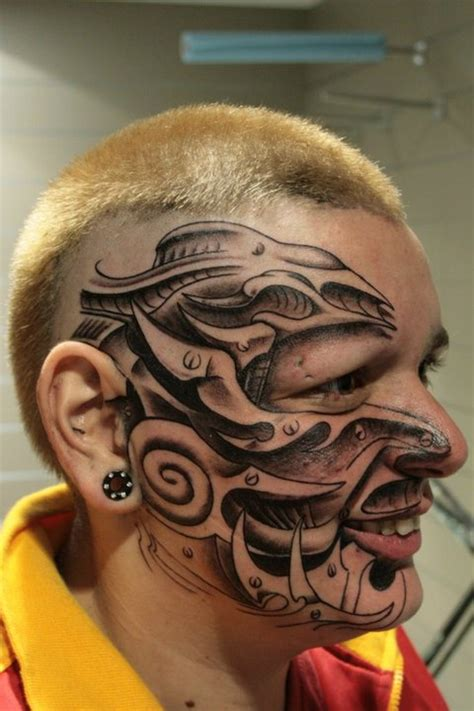 tattoos of faces biomechanical tattoos and designs page 118