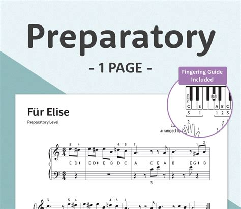 Fur Elise Sheet Easy Letters