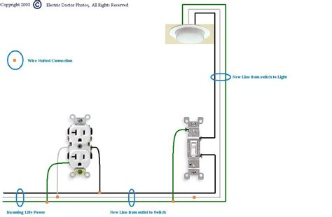 wiring a light switch from an outlet diagram electrical outlet want to add light switch beside