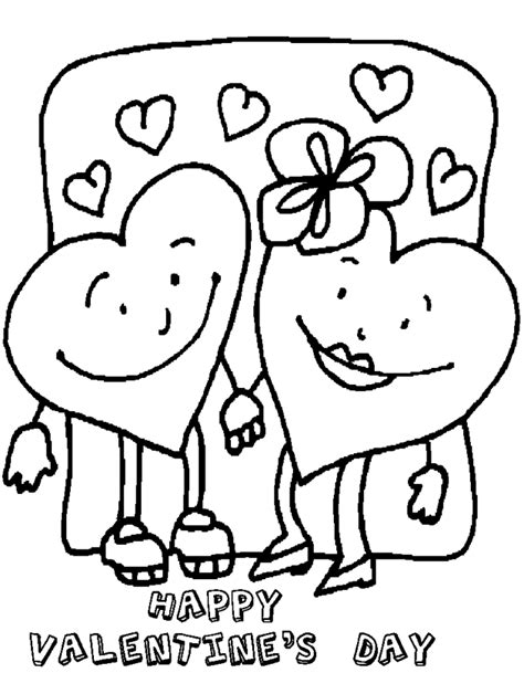 Printable Valentines Day2 Heart Coloring Page Happy Valentines Day Coloring Pages